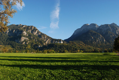 Coming up near Fussen where the Neuschwanstein Castle resides.