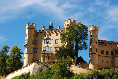 Hohenschwangau Castle - this is where Ludwig's father stayed.  It is located just down the mountain from Neuschweinstein Castle.