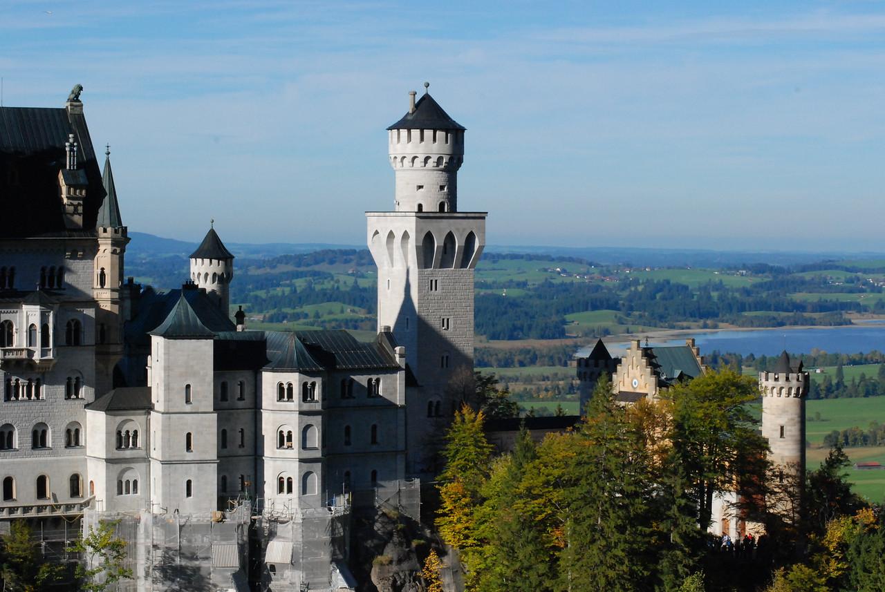 The Neuschwanstein Castle.
