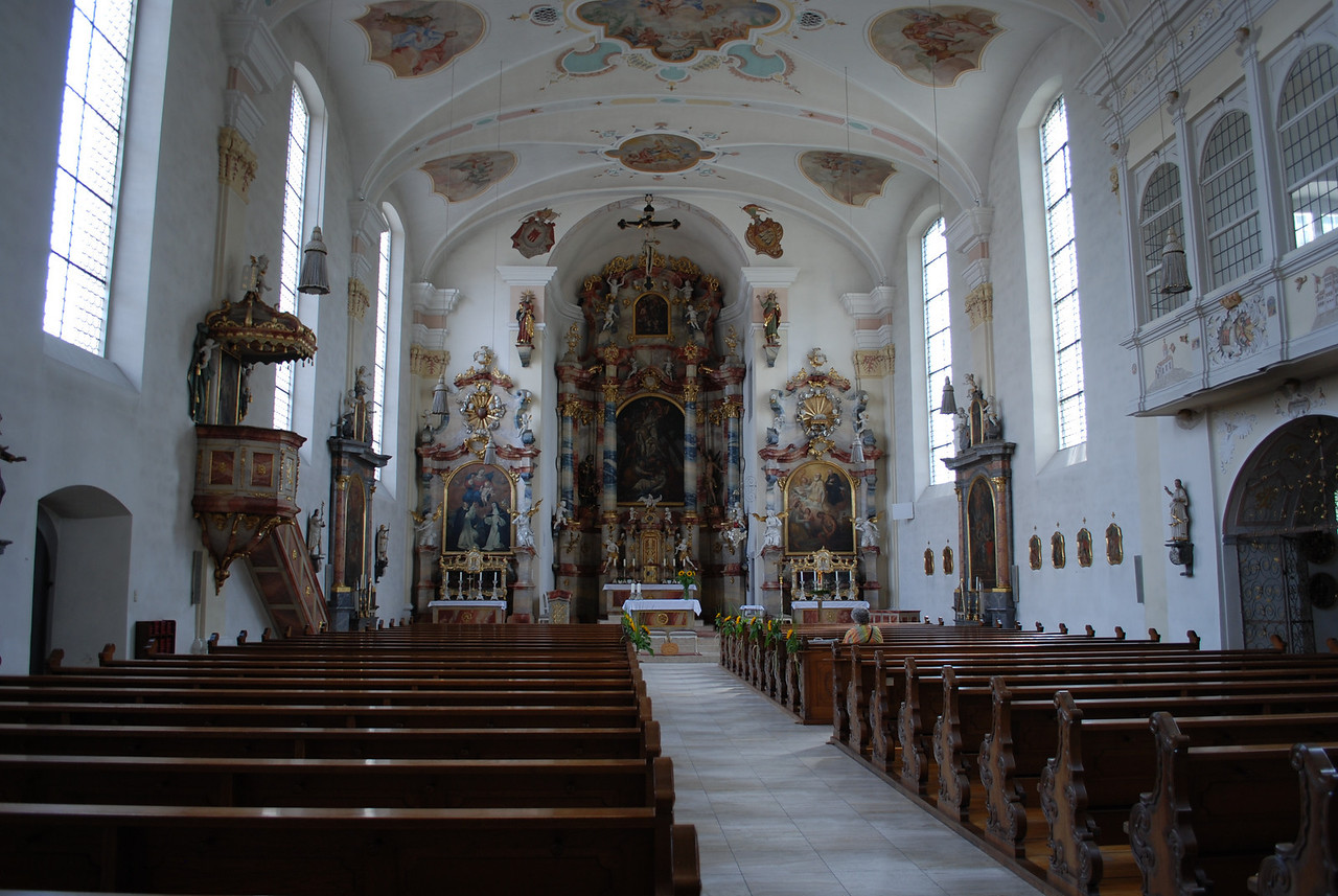 Langenargen, Germany - on the north shore of Lake Constance, Switzerland.  Another cathedral.