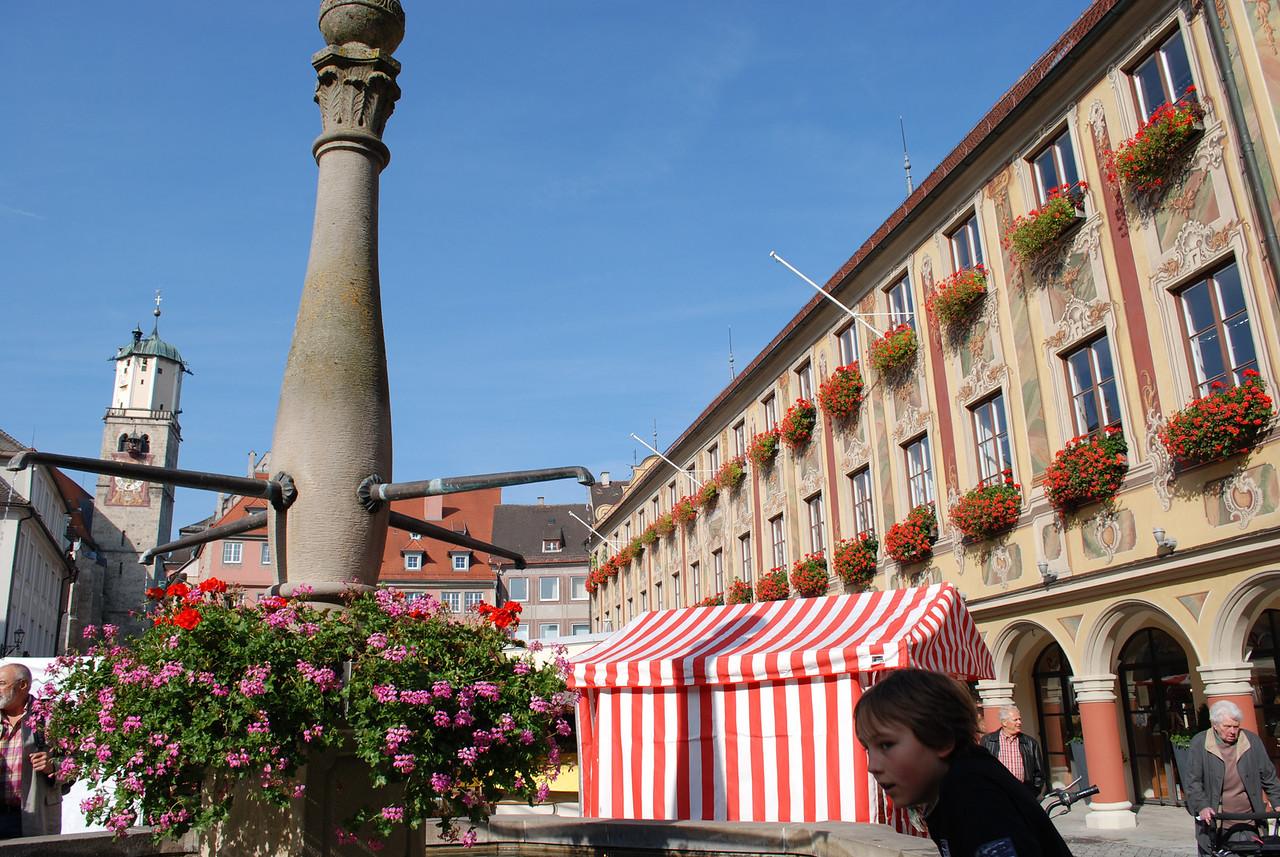 Memmingen, Germany - weekend open market