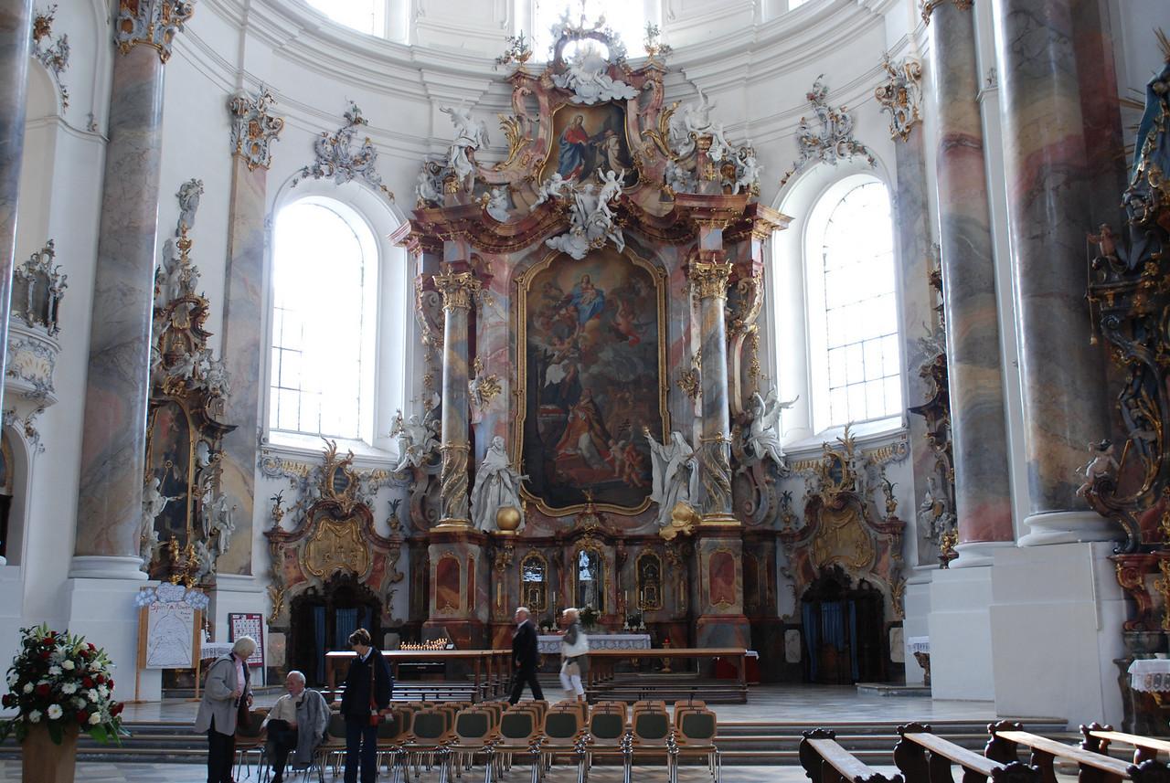 Inside the Ottobeuren Basilica.