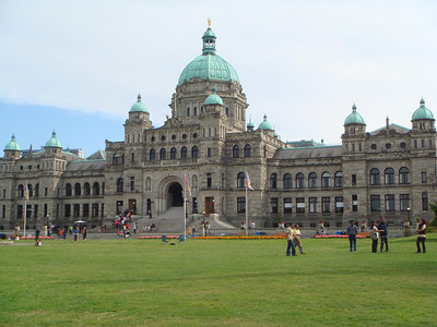 Parliament building facing the Inner Harbor