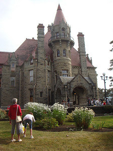 Such and such Castle, which was really some rich person's manor house, but the townsfolk took to calling it a castle, and the name stuck.