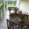 Back Porch - where we ate our breakfast looking out over the lovely scenery.