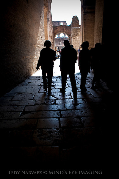 Capturing some silhouettes on the way into the Coliseum.