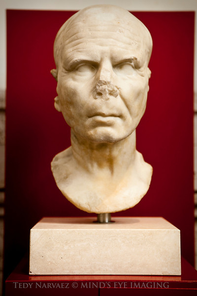 Museo Nazionale Romano : This bust reminded me of Voldemort.