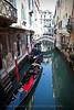 Gondolas in Venetian Canal.