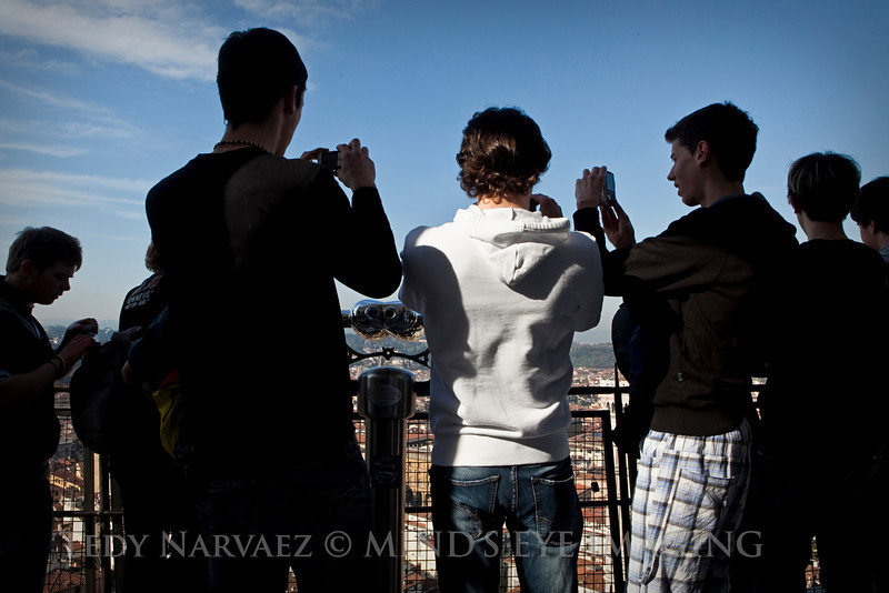 Finally, on top of Il Duomo (The Dome). A portrait of an Italian student field trip.
