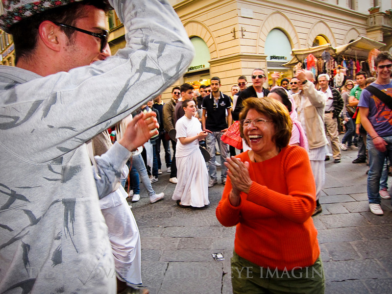 A magical mom moment with the Hari Krishnas in Florence.