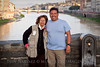 Notice the Fleur-de-lis to my Left... a sign of European nobility. Mom and I on the Ponte Vecchio.