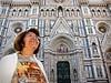 Mom obliging me with a pose at Florence's Basilica di Santa Maria del Fiore.