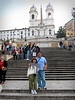 Portrait at the Spanish Steps (Rome). Famous for it's appearance in the Audrey Hepburn (Oscar winning performance) movie, Roman Holiday.