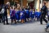 Cute children from Italian grammar school on tour.