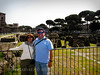 Rome : Mom & I with the Roman Forum in the background.