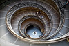 The Magical Spiral Stairwell at the Vatican Museum... It's also the stairwell next to the escalator in a previous image.