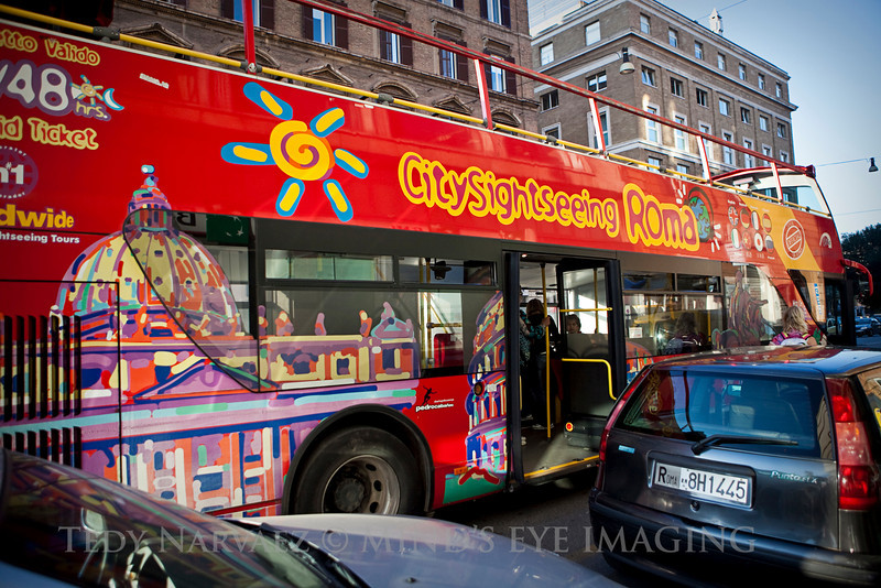 Double decker tour bus. When you purchase a ticket, it's good for 24 hours. I got to use it twice.