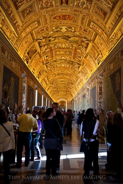 Visually unforgettable. I could have spent the whole day appreciating all the images on the ceiling. Vatican Museum, Rome, Italy.