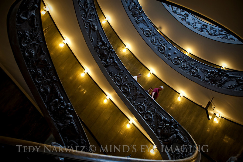 The Magical Spiral Stairwell, Vatican Museum, Rome.