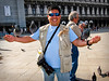 Me & pigeons in St. Mark's Square, Venice, Italy.