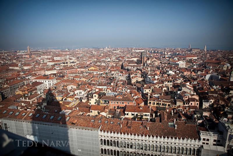 A photo of Venice from the Bell Tower.