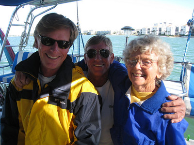 Gary, brother Guy and mom upon our arrival in St. Pete FL.