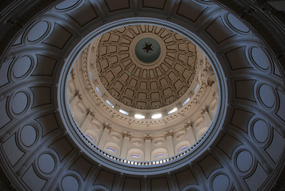 Inner dome of Texas state capital building - Austin, TX