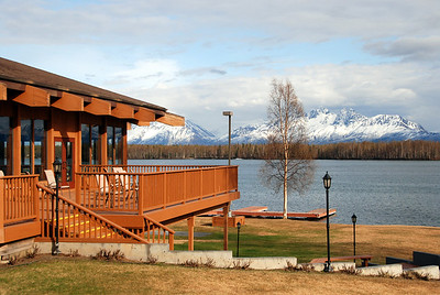 Looking out over Lucile Lake from my hotel room at the Best Western Hotel in Wasilla, AK