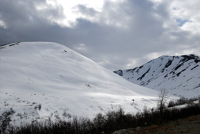 Heading up to Hatcher Pass which overlooks Wasilla.