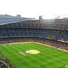 The largest stadium in Europe, almost 100000 - there were eventually 83000 in the crowd for this La Liga game.