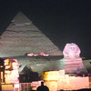 Light show at the Pyramids, Christmas Eve