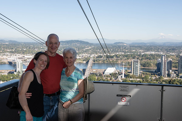 Anna, Alec and Lynn at OHSU, (just touring).