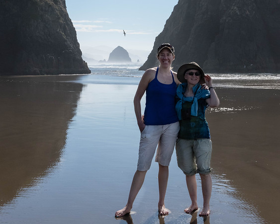 Mariah and Lynn at Cresent Beach, OR