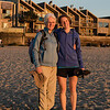 Lynn and Anna at Cannon Beach at sunset