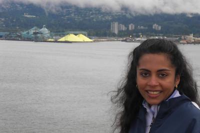 Priya liked the huge piles of Yellow Stuff.