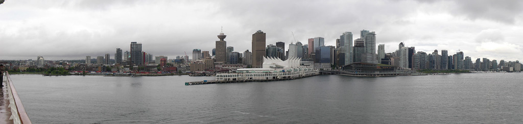 Vancouver, with the cool port obviously designed for cruise ships, to make them feel extra welcome.