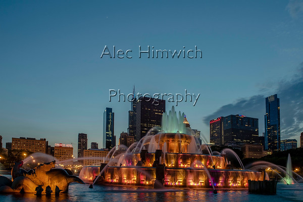 Buckingham Fountain at Sunset