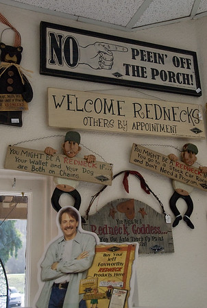Downtown Cambria, Jeff Foxworthy has made redneck sayings profitable