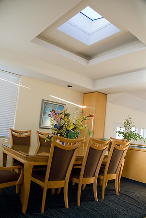 Dining room area and skylight