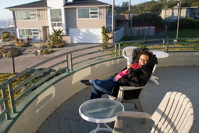 Cassandra, chillin' on the deck