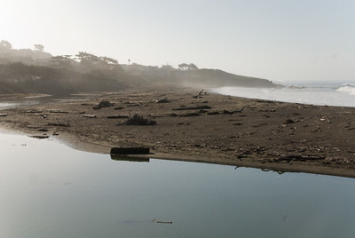 San Simeon Park, morning surf