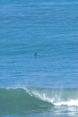 San Simeon Park, moring surfer