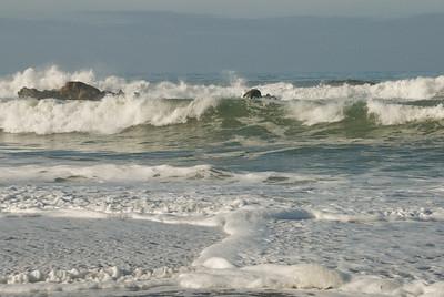 San Simeon Park, ocean surf
