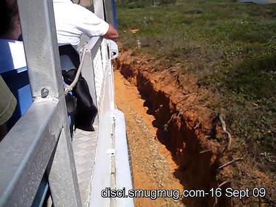 Short video (30s): On the LARC, movig down the southern face of Bustard Head, just south of the headland section of Eurimbula National Park; 16 September 2009.