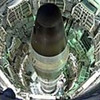 This undated photo courtesy of the Titan Missile Museum shows a Titan II missile in the launch duct at the museum in Sahuarita, Ariz. The Titan Missile Museum has the only Titan II missile silo open to the public in the nation.    (AP Photo/Titan Missile Museum)