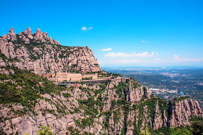 Basilica at Montserrat, Catalonia Spain. Photo by Weldon Weaver. June 2019.