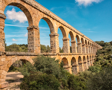 Pont del Diable Aquaduct in Tarragona, Spain. Photo by Weldon Weaver. June 2019.