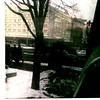 Jan 1968 East Berlin. The picture was taken from the tour bus in East Berlin. East Germn soldiers (you can barely see tim in the center of the picture) waving at us as we stopped for a red light.