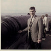 September 1967 Eddie on top of castle with the Firth fo Forth in the background.