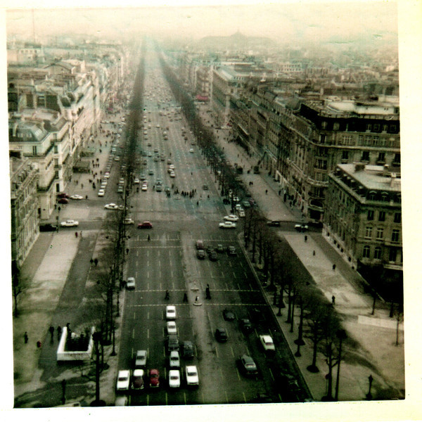 12 Jan 1968 Paris, France.  This is a picture of the Champs Elysse'e (Main Street of Paris) as seen from the Arch Of Triumph.